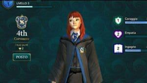 Creare il personaggio Hogwarts Mystery